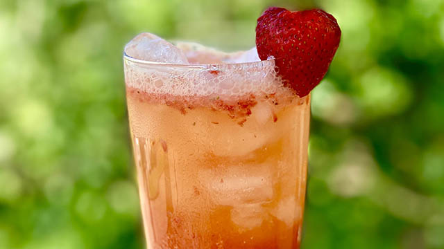 Barfly: 'Smash' fresh strawberries for extra flavor in this non-alcoholic cocktail